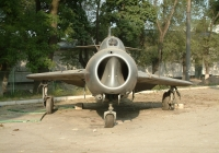 Old USSR Military Airplane Photo Front View