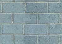 Blue Brickwork Style Sidewalk Texture