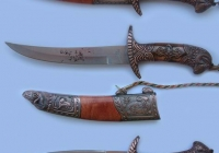 Antique knife texture