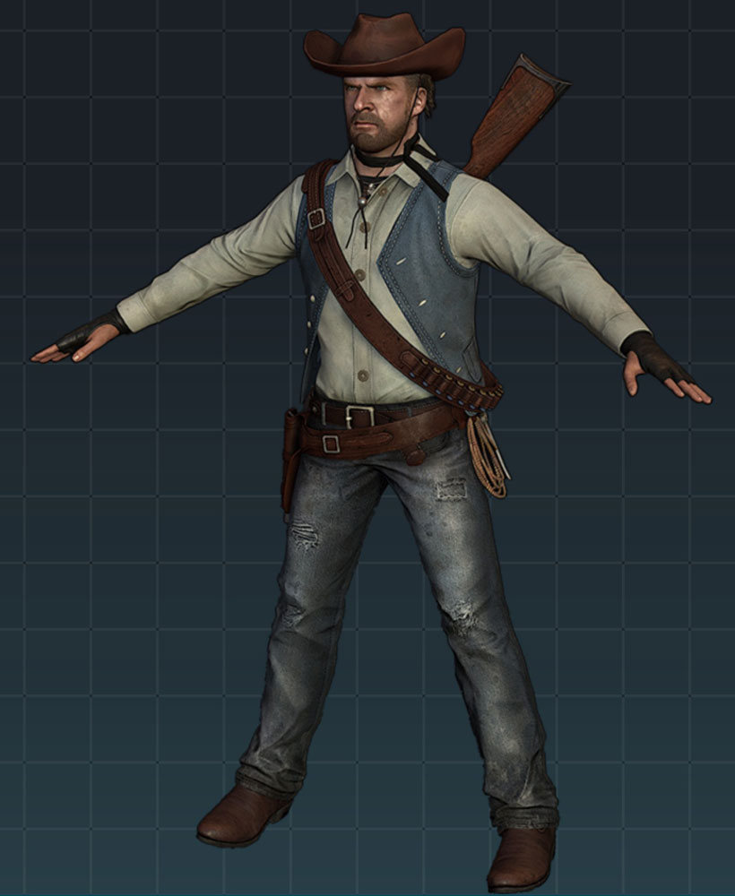 male character,the hunter - Finished 3D Art Work