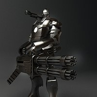 war machine rendition 3D Art Work In Progress