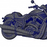 Bike 3D Model Finished 3D Art Work