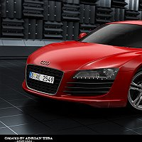 Audi R8 Finished 3D Art Work