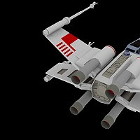 X-Wing Fighter Low Poly 3D Model By PixelOz Finished 3D Art Work