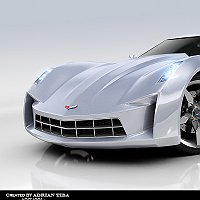 Corvette Stingray Finished 3D Art Work