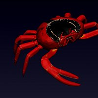 Crab Finished 3D Art Work
