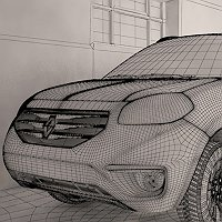 Renault Koleos 3D Art Work In Progress