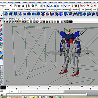 Gundam and Feraligator 3D Art Work In Progress