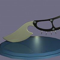 knife Finished 3D Art Work