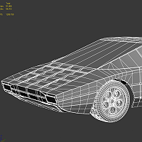 Lamborghini Bravo 3D Art Work In Progress