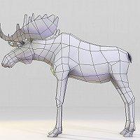 Low polygonal Moose 3D model Commercial 3D Models