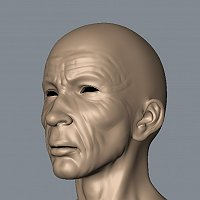 Old Man - head 3d model 3D Art Work In Progress