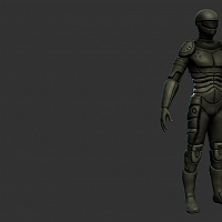 Sci-fi Character in progress please leave me some feedback! 3D Art Work In Progress