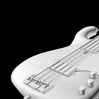 a Bass Guitar Finished 3D Art Work