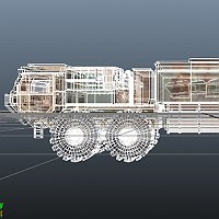SandSei Desert Radar Truck 3D Art Work In Progress