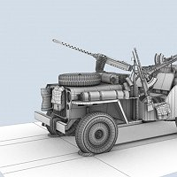 sas second world war jeep 3D Art Work In Progress