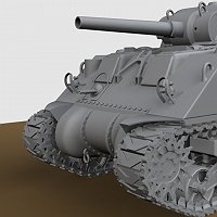 M4 Sherman Tank 3D Art Work In Progress