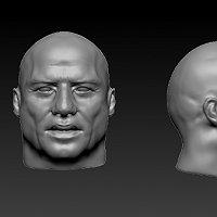 John Travolta head Finished 3D Art Work