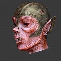 Vampire samurai concept Finished 3D Art Work