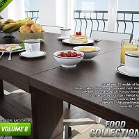 CGAxis models volume 8 FOOD Commercial 3D Models