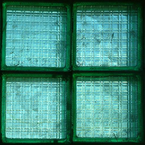 Window texture library tileable green glass block for Glass block windows prices