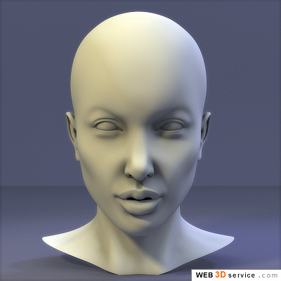 Here is my attempt to model the head of Angelina Jolie.